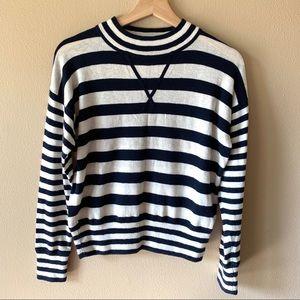 Madewell mock neck bold striped sweater XS